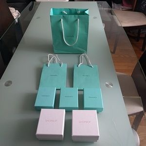 TIFFANY AND SHOPBOP BOXES BAGS PACKAGING LOT OF 8